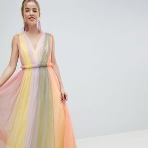 Asos design maxi pastel tulle dress